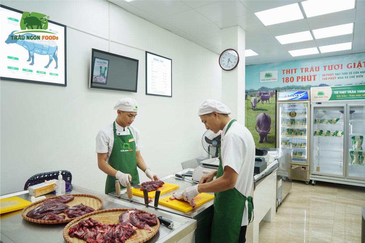 TRÂU NGON FOODS NGUYỄN TRƯỜNG TỘ Địa chỉ Số 125 Nguyễn Trường Tộ, Ba Đình, Hà Nội.