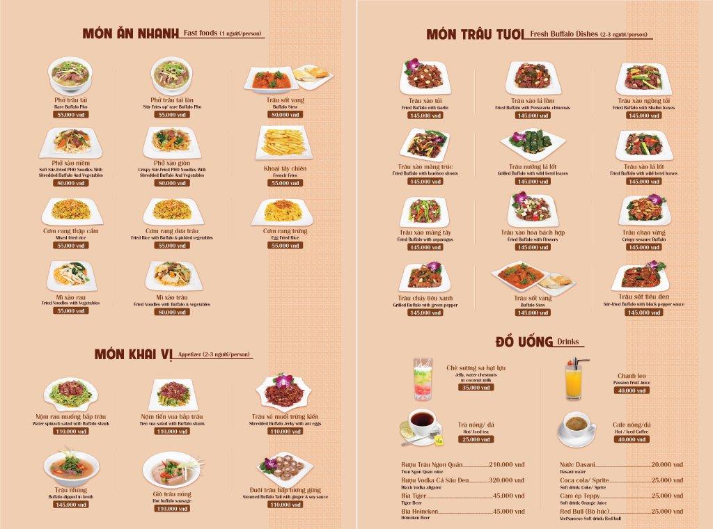 Món ăn đa dạng, phù hợp nhu cầu nhiều khách hàng